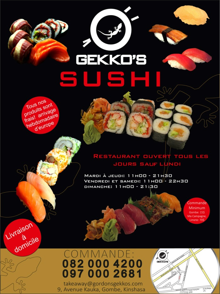 I could not find a good website for Gekkos so I will post one of their flyers I found on the web.  If you should be in Kinshasa you should try to find them.