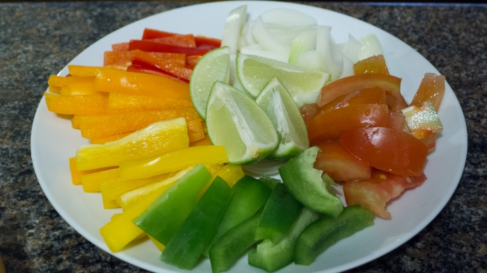 Julienne up the veggies